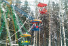 Ferris wheel (Lana37rus) Tags: ferriswheel winter february people snow pine birch white blue red green yellow