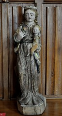 Astorga (León). Museo de los Caminos. Virgen con el Niño, siglo XV (santi abella) Tags: astorga león castillayleón españa museodeloscaminos palacioepiscopaldeastorga