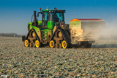 Regenerative fertilization of winter oilseed rape   JOHN DEERE // AMAZONE (martin_king.photo) Tags: spring springwork2018 regenerative fertilization regenerativefertilization johndeere johndeere8200 jdrx johndeere9620rx amazone amazonezats4200 fertilizerspreader spreader oilseed rape springwork powerfull martin king photo agriculture machines strong agricultural great day czechrepublic sky fans work place big machinery yellow tschechischerepublik martinkingphoto welovefarming working modern landwirtschaft green red colorful colors blue mais maize corn photogoraphy photographer canon tractor tracs frozen frosty morning frost cold worker sun morningsun rays colours