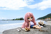 Rose very charming, in Armacao Beach, Florianópolis, Brazil ❤️🌊☀️🌴 (Boutique de Boneca) Tags: blythe blythedoll blythelove blythephoto blythephotography brazil brasil boneca beach florianópolis floripa dolls brinquedo toyphotography toys poupee praia puppen spielzeug island isla ilha pink