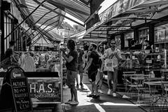 Naschmarket visit. (neilhargreavesphotography) Tags: monochrome city urban vienna travel candid austria