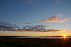 Sonnenuntergang über der dänischen Wiek (enno84) Tags: greifswalderbodden küste ludwigsburg meer mond ostsee sonnenuntergang
