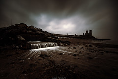 _________H____ (Kevin HARWIN) Tags: long exposure water sea wet beach stones rocks building running lowtide clouds drama canon eos m3 sigma 1020mm lens reculver kent south east uk england britain