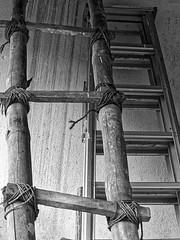 traditional/modern (idanona) Tags: ladder leiter bamboo bambus sisal rope seil wood holz metal metall srilanka