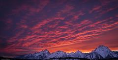 Teton Sunset - Wyoming (petechar) Tags: petechar charlesrpeterson panorama landscape mountains sunset winter tetons grandtetonnationalpark panasonicg9 leica1260mm wyoming