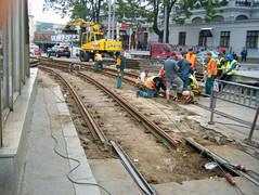 Brno tram track re-laying (johnzebedee) Tags: track tramtrack tramway brno czechrepublic johnzebedee