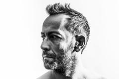 Self I (#Weybridge Photographer) Tags: adobe lightroom canon eos dslr slr 5d mk ii mkii studio white background high contrast key monochrome self selfie portrait beard
