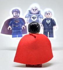 Three men and a Kal-El (Barratosh#2) Tags: superman kalel jorel russel crowe marlon brando lego batman movie green arrow black canary the question huntress lightning mr freeze minifigure dc comics