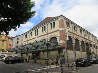Halle de Cahors, market hall at Place Galdemar, Cahors, France