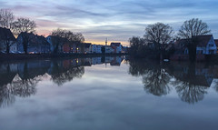 Danube Reflection (Andy.Gocher) Tags: andygocher iphone6s germany europe donauworth danube river reflection trees water sky