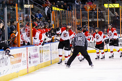 """Kansas City Mavericks vs. Cincinnati Cyclones, February 2, 2018, Silverstein Eye Centers Arena, Independence, Missouri.  Photo: © John Howe / Howe Creative Photography, all rights reserved 2018. • <a style=""""font-size:0.8em;"""" href=""""http://www.flickr.com/photos/134016632@N02/39219888585/"""" target=""""_blank"""">View on Flickr</a>"""