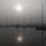 Fog over the Italian lake Lago Maggiore thumbnail