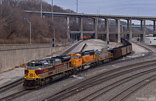 Northbound Empty Coal Train in Kansas City, MO