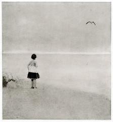 The first time seeng the sea (2011) (Alexander Tkachev) Tags: alternativephotography altprocess bromoil seashore alexandertkachev hasselblad fomabrom123bo
