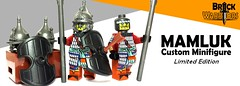 Mamluk Custom Minifigure (BrickWarriors - Ryan) Tags: brickwarriors custom lego minifigure weapons helmets armor mamluk arabian shield medieval castle pike arrow