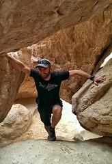 Wadi exploration in Saudi.