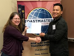 TT Runner Up (Rise and Shine Toastmasters) Tags: toastmasters leadership publicspeaking confidence mesa arizona saturday fun excitement training friendship networking