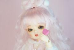 Dotories BeBe/ Lilu Milk&Strawberry (Dotories) Tags: mudoll glib bjd balljointeddoll tinybjd yellow doa