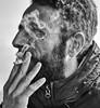 Fumare (Michele Fini) Tags: smoke cigarette fumare sigarette ritratto mano monocromatico black white occhi
