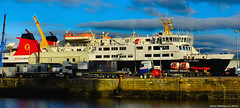 Scotland Greenock in the ship repair dock the car ferry Isle of Lewis 2 February 2018 by Anne MacKay (Anne MacKay images of interest & wonder) Tags: scotland greenock ship repair dock caledonian macbrayne calmac car ferry isle lewis xs1 2 february 2018 picture by anne mackay