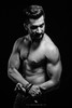 NO PAIN - NO GAIN (hisalman) Tags: fitness gymaddict gym dubai uae man male model young blackandwhite body bodybuilder abs diet 6packs lowkey hisalman salmanahmed fashion portrait