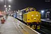 37407 at Great Yarmouth after working 2P32 1736 from Norwich 19/2/2018 (Paul-Green) Tags: class 37 374 37407 37425 nc37 stock gt great yarmouth train rail railway station canon camera flickr drs direct services aga abellio greater anglia passenger service outdoors cold night b bulb setting uk gb railways feb february 2018 diesel engine english electric type 3 loco photography winter damp wet good light