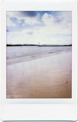 Ostseestrand (Ulla M.) Tags: instax instaxmini instantfilm fuji sofortbild analogue analog hochformat upright ostsee balticsea travemünde strand ostseestrand beach umphotoart canoscan8800f