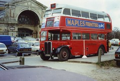 May 82 - Iconic bus, Iconic building. (RTW501) Tags: eyk396 rt1 alexandrapalace alleypally shuttleservice aec aecregent firstrt