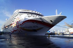 The Norwegian Sun (Suzanne's stream) Tags: norwegiansun vessel ship schiff habour hafen santamarta southamerica südamerika