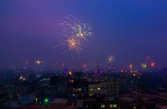 Sakrine Festival (ahmedezaz76) Tags: sakrine fastival old dhaka firework natural festival blue hour