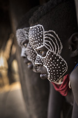 Double Trouble (alfienero) Tags: karo facial decoration omo river tribe ethiopia children tribal white black