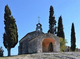 Eygalières (Bouches-du-Rhône) - Chapelle Saint-Sixte (XIIe) (explore 13-01-18)