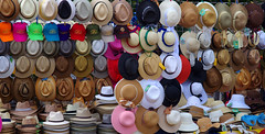 Kapelusze.  Chichen Itza. Yucatan, Mexico (cbrozek21) Tags: kapelusze caps hats sombrero booth market pattern clothing chichenitza mexico