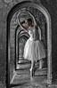Arch angel_ (Philip L Hinton A.R.P.S.) Tags: ballerina dancer mono musicmatch monochrome nikon poetry portrait