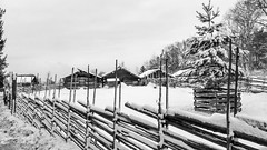 Winter at Skansen in Stockholm, Sweden 18/1 2018. (photoola) Tags: stockholm skansen vinter trähus djurgården sv sweden photoola woodenhouse monochrome blackandwhite