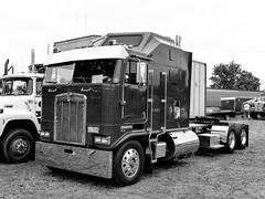 Kenworth K100 COE Semi Tractor (J Wells S) Tags: kenworthk100coesemitractor kenworth kw kenworthcoe blackandwhite monochrome bw sleepercab coe caboverengine semitractor bigrig 18wheeler atca antiquetruckclubofamerica macungietruckshow macungie pennsylvania macungiememorialpark chrome truck camiones lorry antiquetruck showtruck historictruck vintagetruck