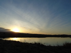 Sunrise over Harray (stuartcroy) Tags: orkney island sunrise harrayloch harray scotland sea sony scenery sky still reflection ripples water winter beautiful blue bay