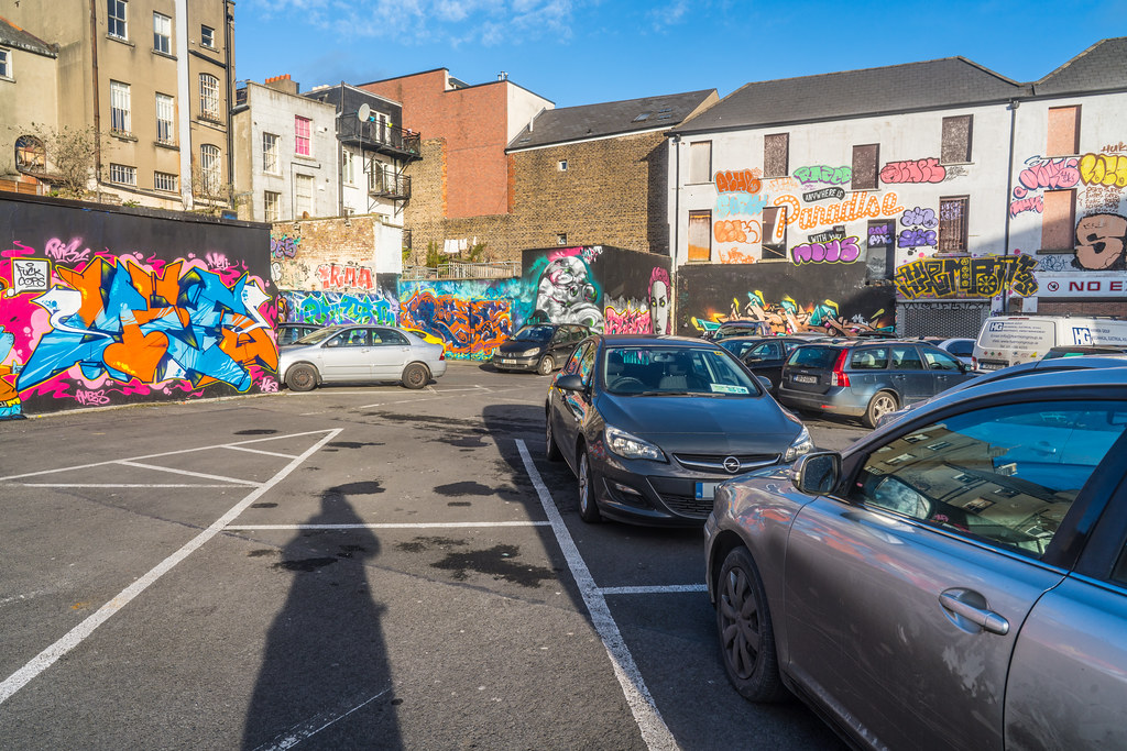 STREET ART AT THE TIVOLI CAR PARK IN DUBLIN [LAST CHANCE BEFORE THE SITE IS REDEVELOPED]-135650