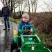 Carrie, James, Arthur on tractor
