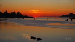 Marea baja en la Ría. (lumog37) Tags: ría estuary sunset puestadesol costadegalicia líneadecosta coastline anochecer