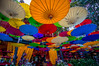 Floating Umbrellas (Mich's Pictures) Tags: thailand chiang mai colorful color umbrellas restaurant old city