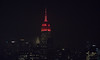 The Empire State Building is lit red in honor of #RAW25. (apardavila) Tags: raw25 esb empirestatebuilding hoboken manhattan nyc newyorkcity wwe skyline skyscraper