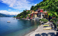 Varenna harbour bay (basic hiking) Tags: italy italien lombardy lario lakecomo comersee varenna harbour harbor water waterfront alps village alpen travel europe panorama sonyalpha a5100 ilce5100 selp1650