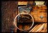 Pine tar wood with handcraft handle. (BirgittaSjostedt) Tags: tar pinetar wood old ancient church handle iron handcraft detail forge handicraft craftsmanship texture frame birgittasjostedt