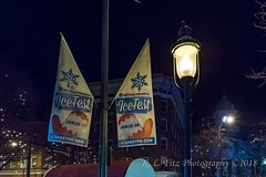 Banners and Streetlight (kevnkc2) Tags: stdntsdoncooper lightroom pennsylvania winter historic downtown icefest ice sculpture chambersburg nikon d610 franklin county tamron 2470mmg2 sp2470mmf28divcusdg2a032