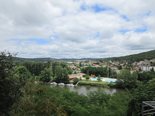 Lot River from Place Lafayette, Cahors, France