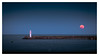 Moon Light (picturedevon.co.uk) Tags: breakwater brixham torbay englishriviera devon supermoon red moon bloodmoon orange blue lighthouse sea sky night winter canon seascape twilight bluehour wwwpicturedevoncouk