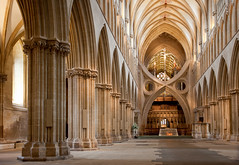 Wells Cathedral, nave (archidave) Tags: wells cathedral gothic church medieval decorated architecture somerset vault