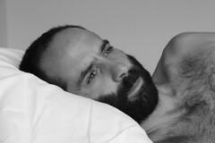 ⚤ Peter # 37 (just.Luc) Tags: man male homme hombre uomo mann shirtless barechested torsenu beard baard barbe barba bart portret portrait ritratto retrato face gezicht visage gesicht bn nb zw monochroom monotone monochrome bw straight hetero heterosexual