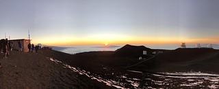 Moment of Sunset atop Mauna Kea